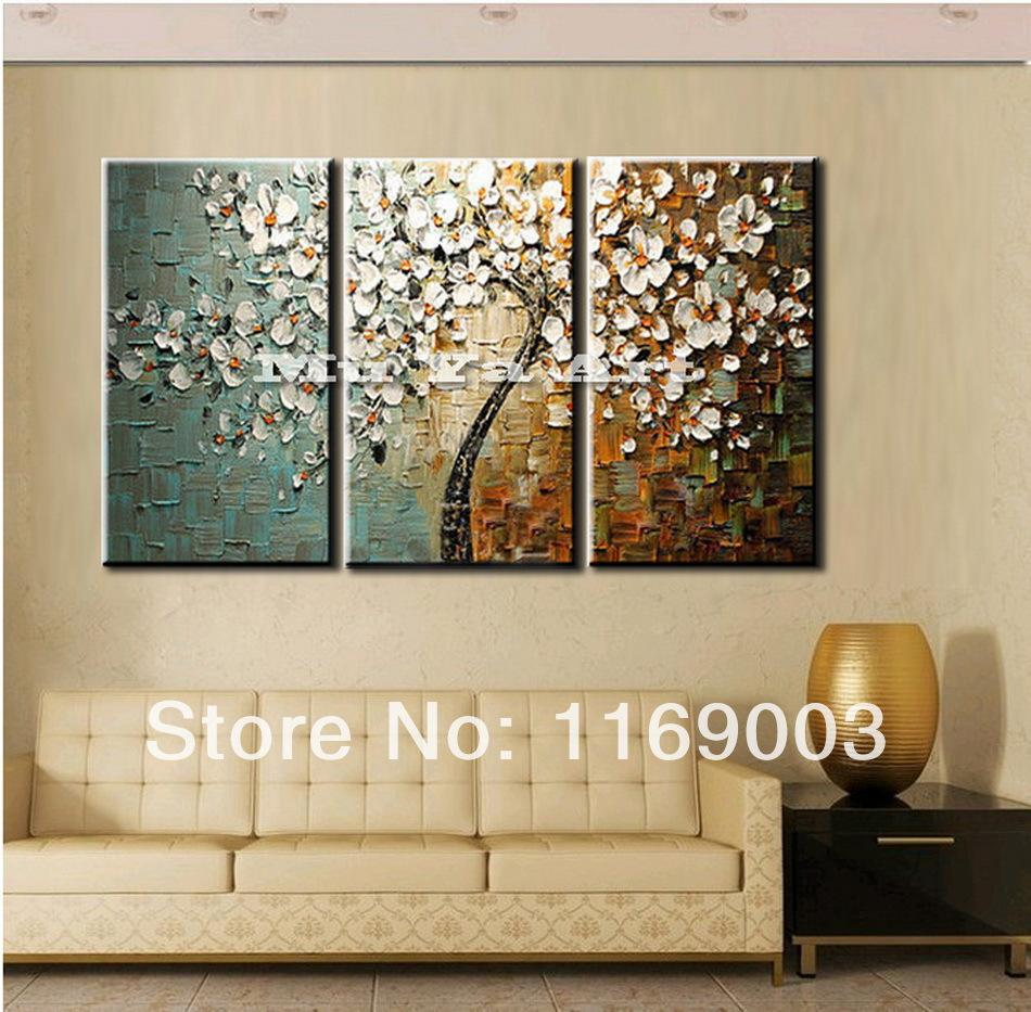 3 Panel Wall Art Canvas Tree Acrylic Decorative Pictures