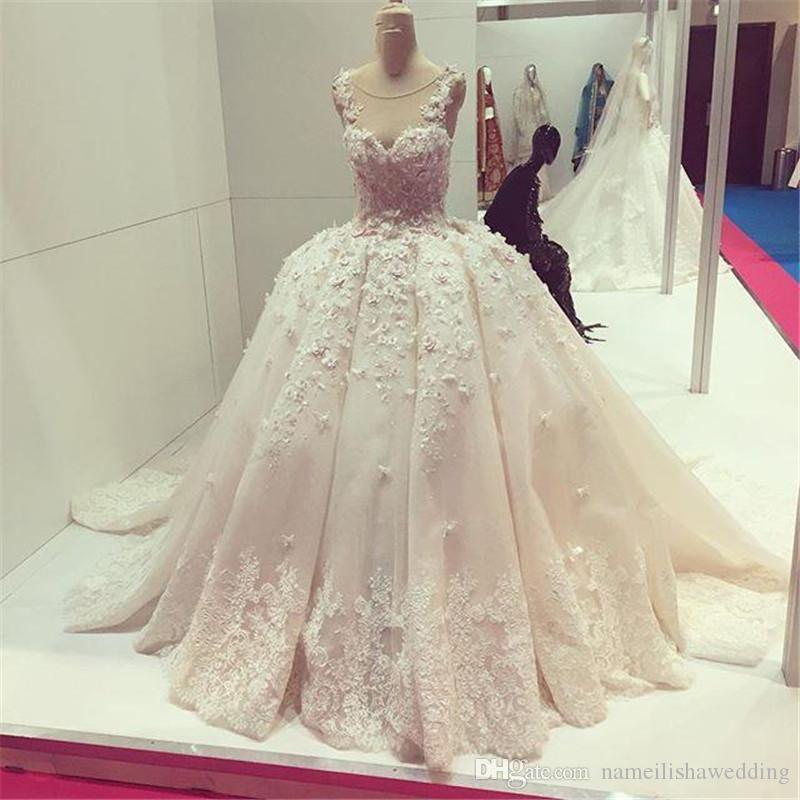 Grohandel Echte Bilder 3d Floral Appliques Brautkleider