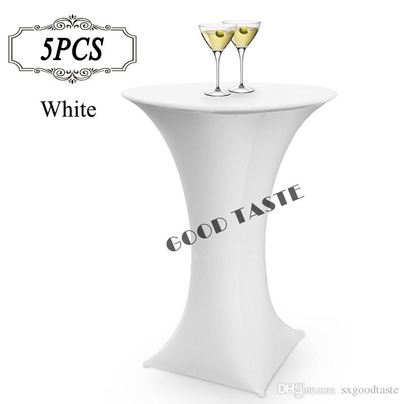 acheter 2016 bar cocktail table de couverture couverture spandex blanc ronde a base de stretch bistros table couvre de banquet de fete 80x110 cm de 46 8