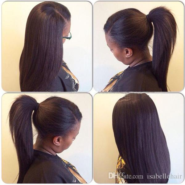 High Ponytail Lace Wigs With Baby Hair 100 Brazilian