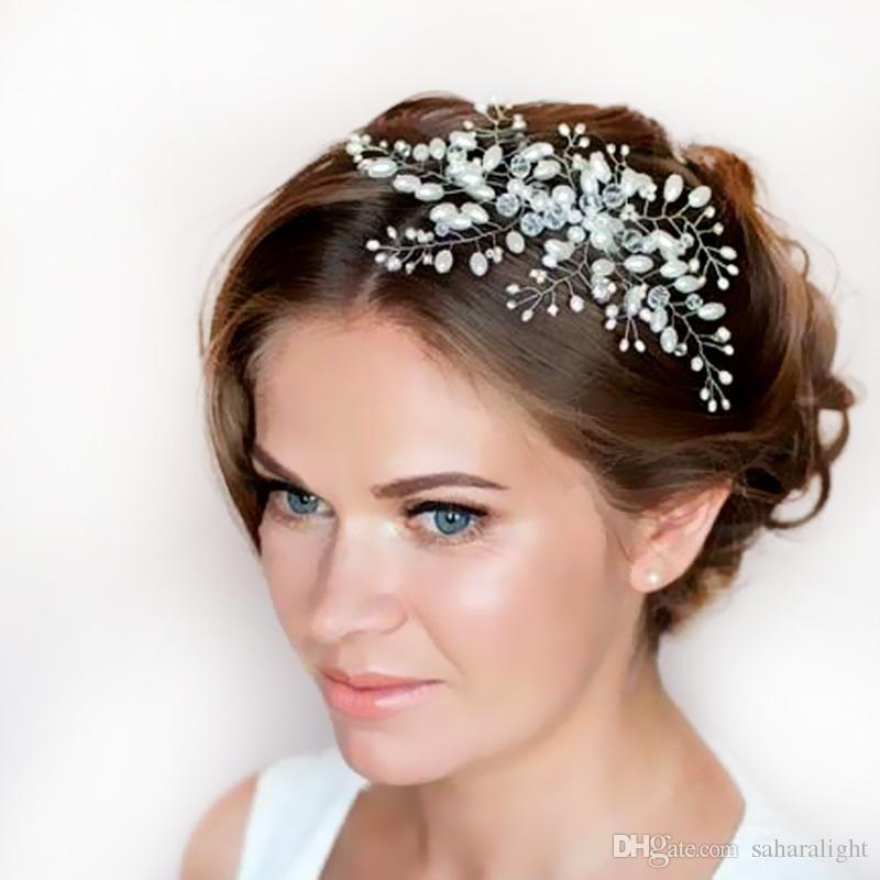 hot sale imitation pearl bridal hair accessories bridal hair combs hairpin tiara wedding hair accessories hair jewelry 1stl bridal rvintage hair ornaments