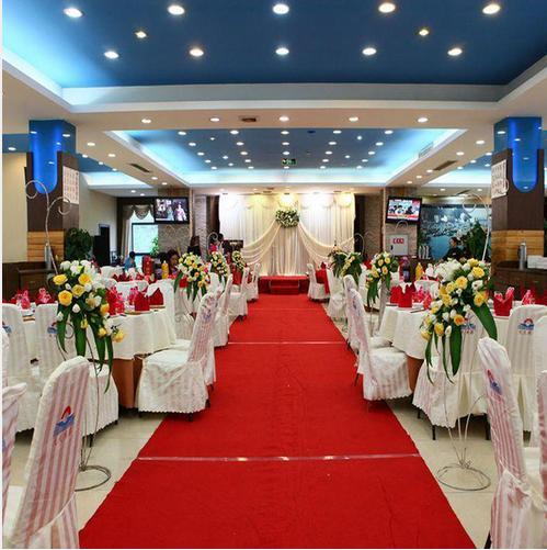 acheter decoration de mariage de luxe rouge tapis de mariage coureur 1 metre de largeur par 20 metres de longueur allee de decoration de fete de