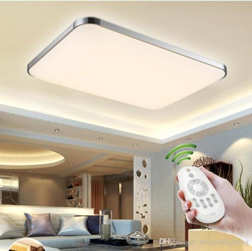 Dimmable Modern Led Ceiling Lights for Living Room Bedroom Kids Room     Dimmable Modern Led Ceiling Lights for Living Room Bedroom Kids Room Surface  Mounted Led Home Indoor Ceiling Lamp Lighting Light Ceiling Light Led  Bedroom