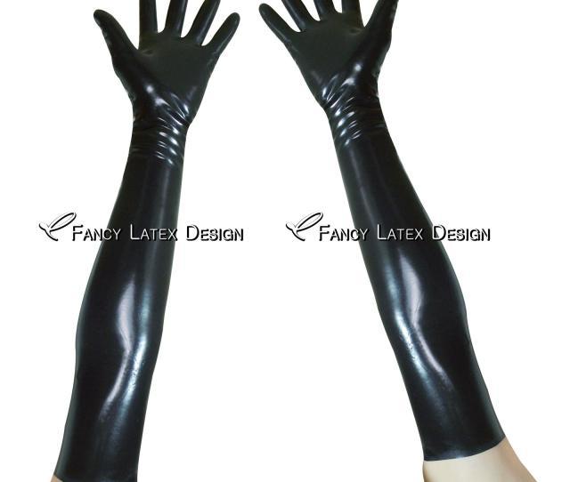 Black Sexy Long Latex Gloves Arm Length Fetish Bondage Rubber Mittens Plus Size Latex Long Gloves Rubber Long Gloves St  From Hdlatex