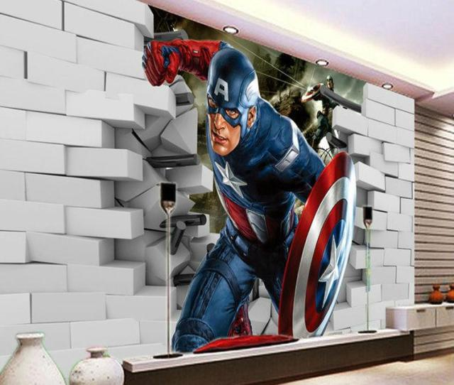 D Captain America Wallpaper Avengers Photo Wallpaper Cool Wall Mural Boys Kids Room Decor Club Bedroom Tv Background Wall Paper Top Wallpapers For Desktop