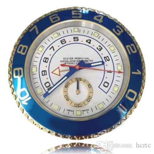 acheter top qualite horloges murales en metal horloge tw marque de luxe montre horloge murale dore bleu en acier inoxydable horloge en metal mur maitre