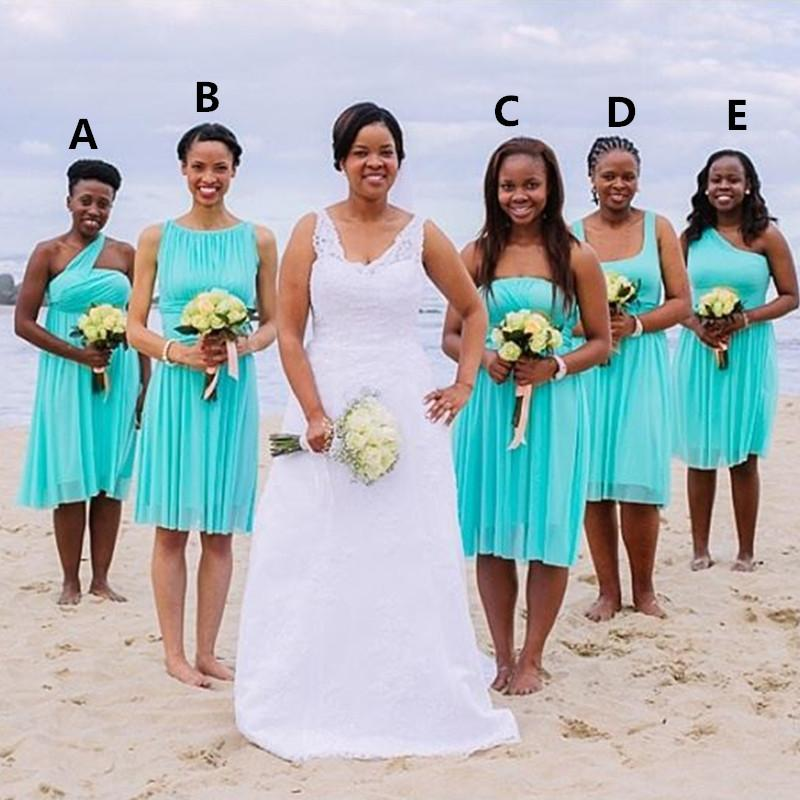 Bridesmaid Dresses South Africa 2016 Knee Length Short