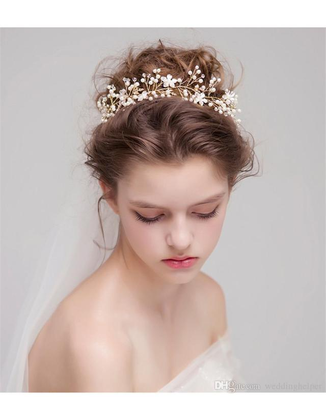 vintage wedding bridal rhinestone headband ribbon princess crown tiara headpiece hair accessories queen jewelry headdress crystal pearl gold