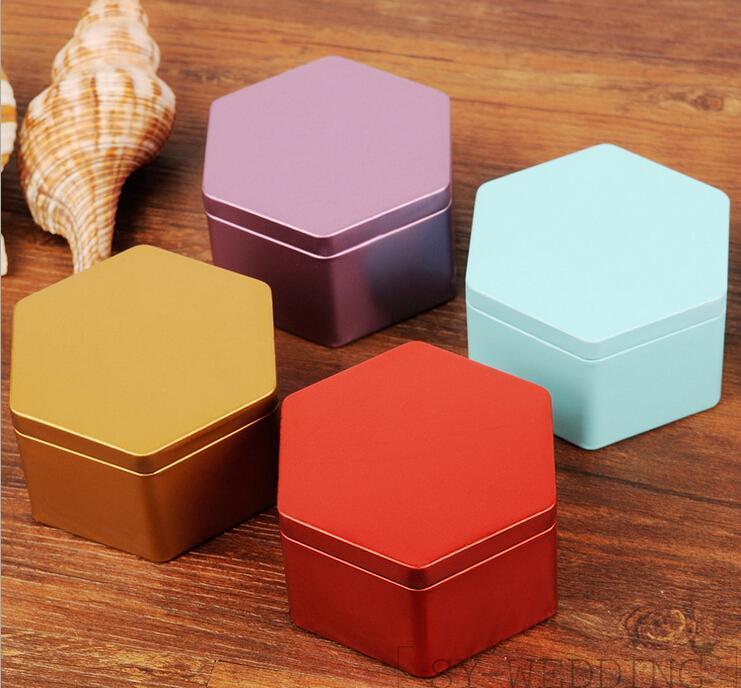 European Hexagon Tin Box Creative Multi Candy Boxes