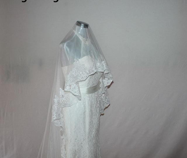 Mingli Tengda Wedding Veil New Veu De Noiva One Layer  M Long Bridal Veils Cathedral Lace Edge Bridal Veil Velos De Novia  High Quality Lace Veil One