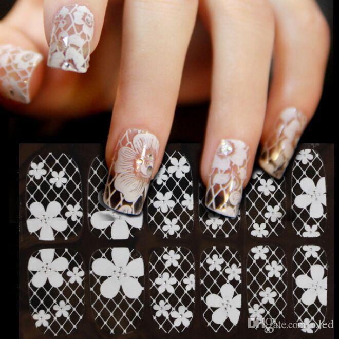дизайн ногтей кружево 3