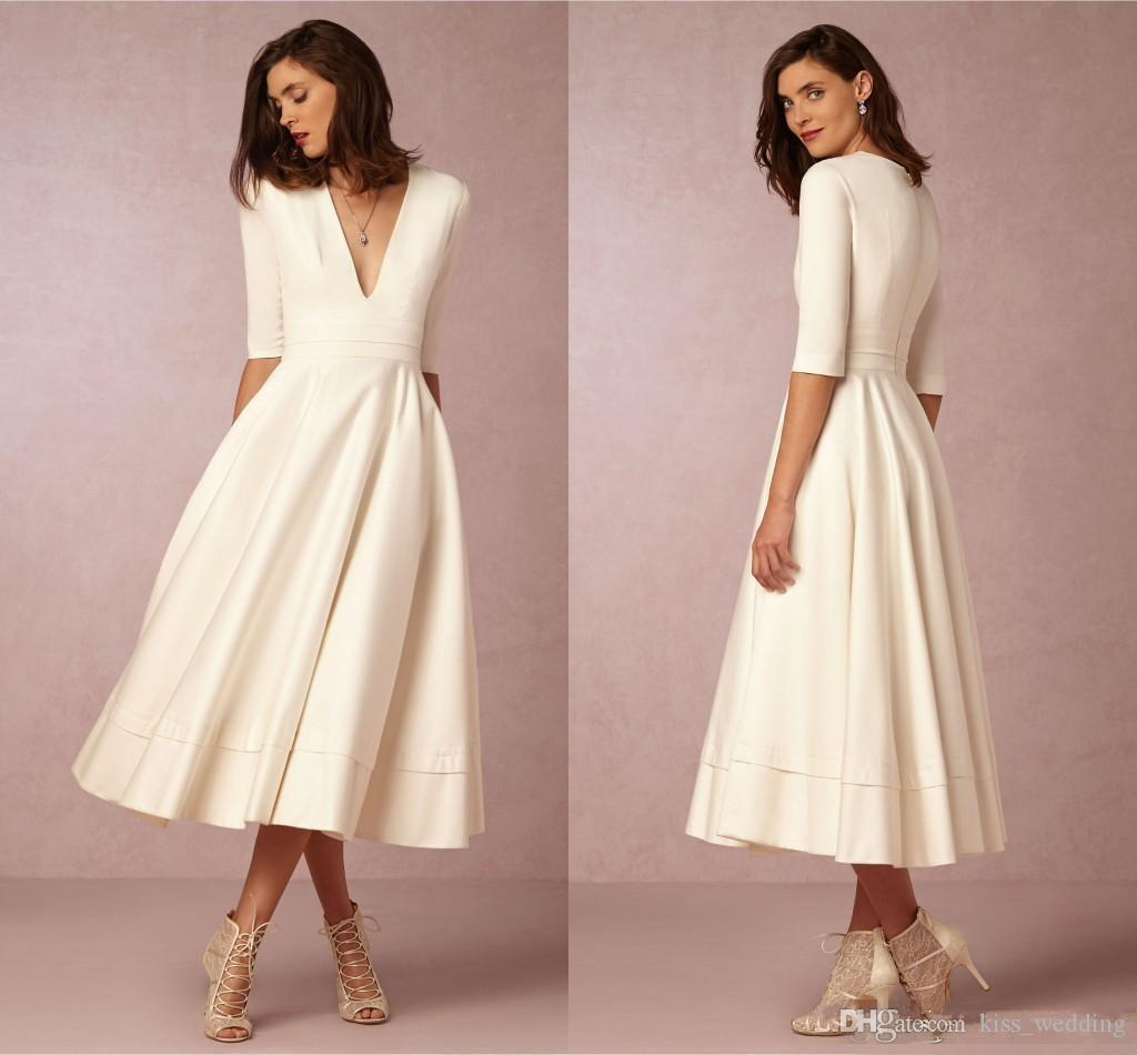 3 4 Length Wedding Dresses Best Dresses 2019