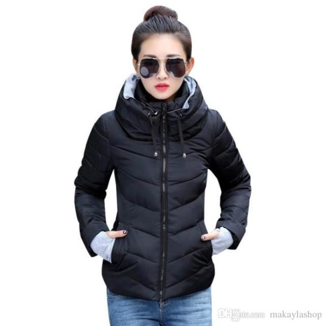 0a23de1e718e6 2019 Winter Jacket Women Plus Size Womens Parkas Thicken Outerwear Solid Hooded  Coats Short Female Slim