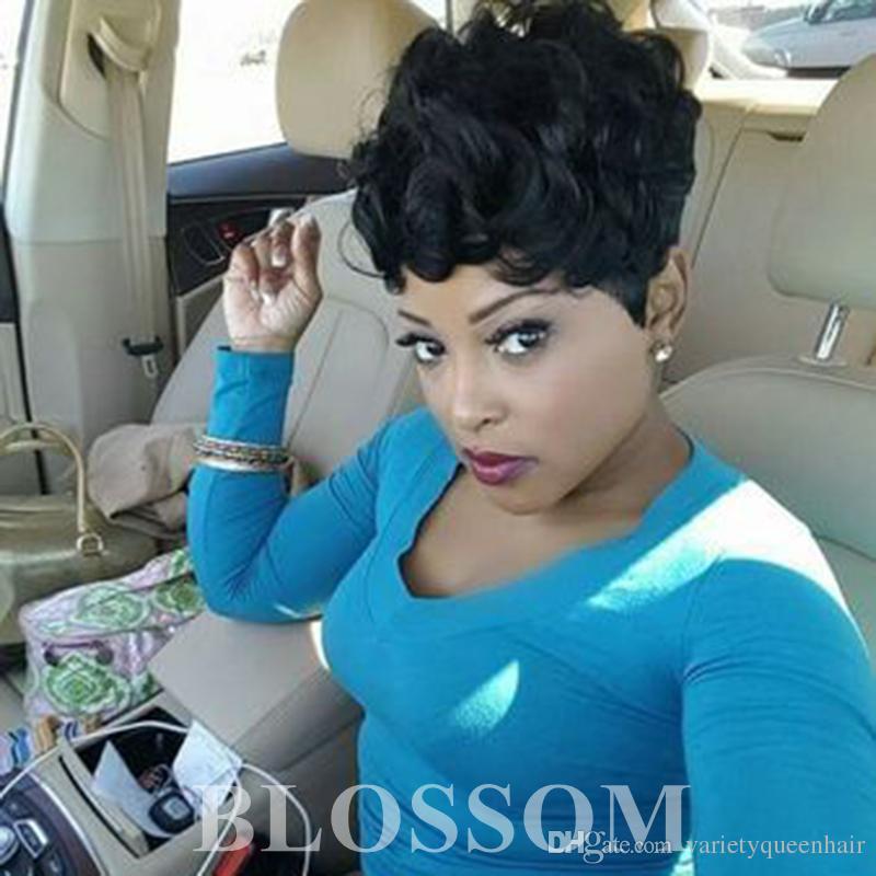 Human Hair Short Curly Wigs For Black Women Cheap Full