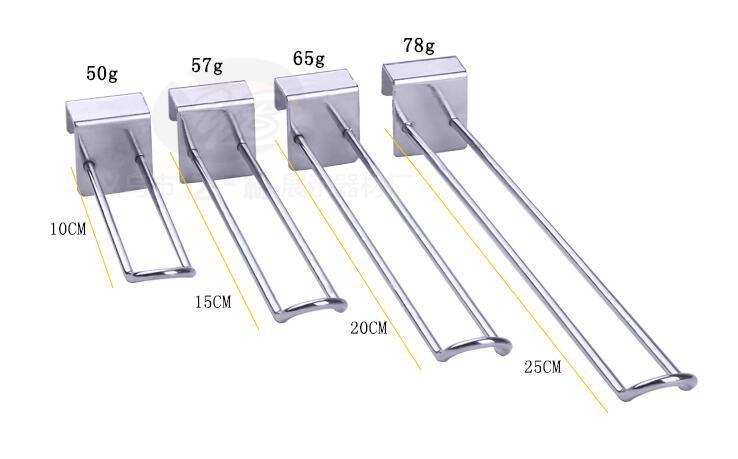 acheter accessoires pour crochet de tube pour etagere de suspension en u en forme de merchandising presentoir pour magasin de 110 27 du lucindawu