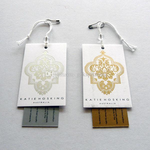 2019 Custom Clothing Tags Of 2 Cards Hang Tags Printing In