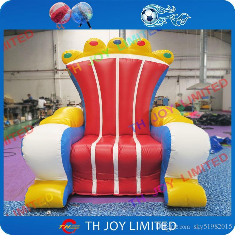 acheter chaise gonflable de trone de roi de materiel de pvc trone gonflable pour des enfants de 522 62 du sky51982015 dhgate com