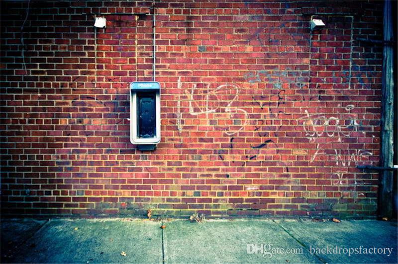2018 7x5ft Red Brick Wall Backdrop Wedding Vintage Vinyl