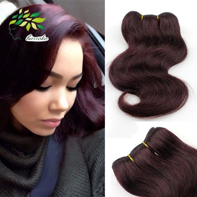 fashion short bob hairstyles for black woman brazilian hair body wave 99j# burgundy weave body wave grade 7a unprocessed human hair