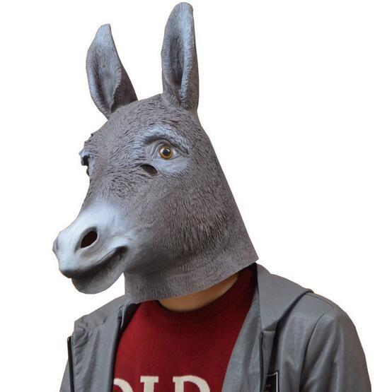 Wholesale Halloween Magical Creepy Adult Donkey Head Latex