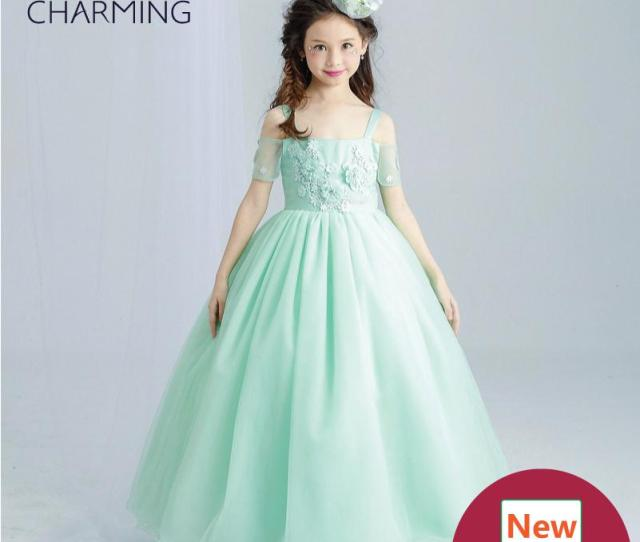 Emerald Green Dress Girls Pageant Dresses High Quality Designer Dresses Real Photo Fancy Dress China Wedding Dress Champagne Flower Girl Dresses Cheap Girls
