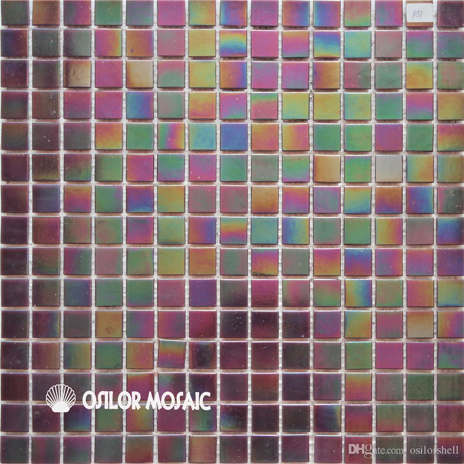 acheter carrelage mosaique en verre de couleur irisee pour carrelage mural de salle de bain et de cuisine 20x20mm 4 metres carres par p51 de 313 04