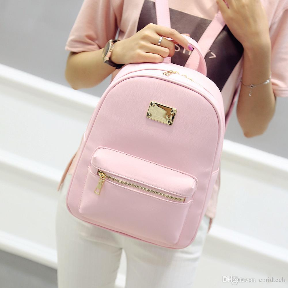 Women Backpack Small Size Black Pu Leather Women S Backpacks Fashion     Women Backpack Small Size Black Pu Leather Women S Backpacks Fashion School  Girls Bags Female Back Pack Famous Brand Mochilas Rolling Backpack Toddler