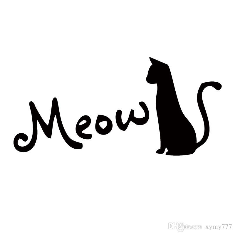 Download 2018 Hot Sale For Cat Silhouette Meow Cat Lover Pet Car ...