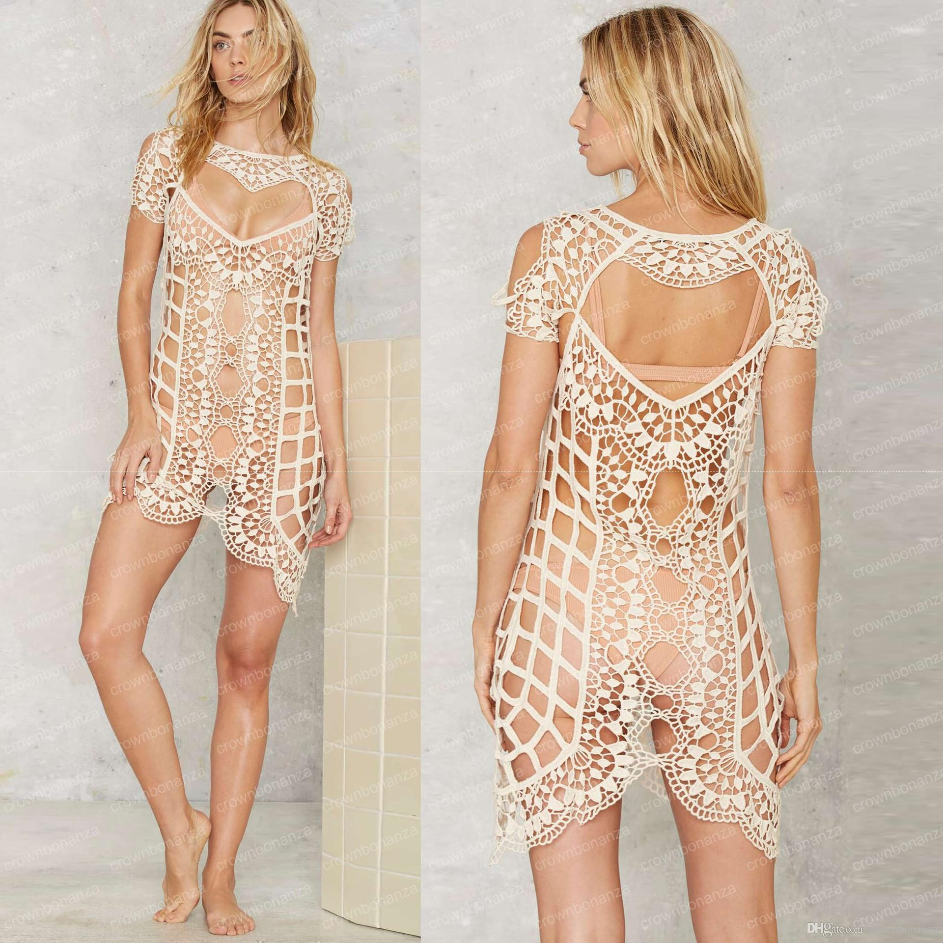 New Lace Beach Cover Up Womeny Transparent Beach