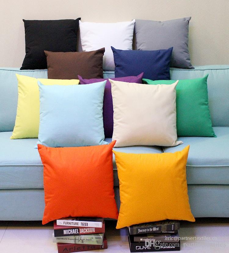 18x18 inches plain dyed 8 oz cotton
