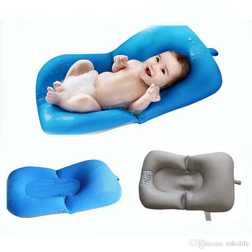 2019 Portable Infant Air Cushion Bed Baby Bath Pad Non
