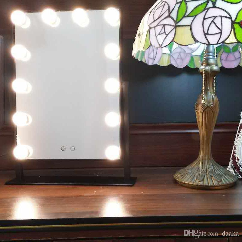 acheter miroir mene blanc chaud de vanite de maquillage de hollywood avec 12 grands gradateurs de miroirs de beaute d etape de lumieres de 101 53 du daaka