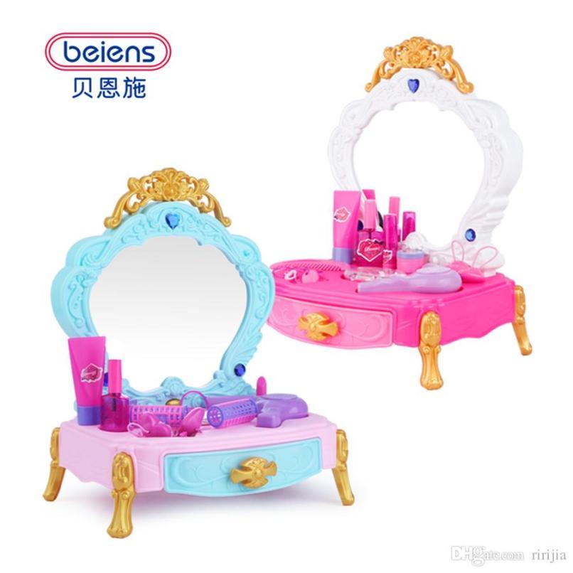b11facd239157 Beiens Pretend Play Toys Children Makeup Set Hairdressing Make Up
