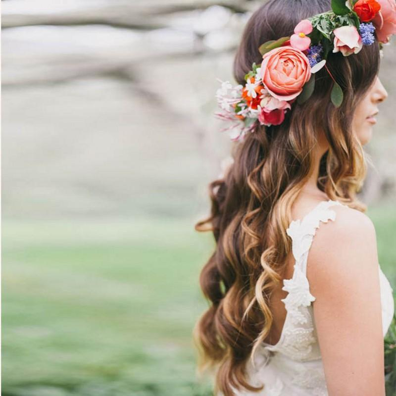 romantic bohemian wedding flower headband bridal headpiece bridal flower crown boho wedding crown brides head garland hair flowers flower wedding crown