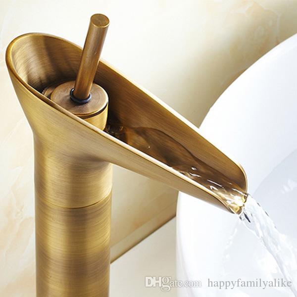 2018 antique brass bathroom sink faucet widespread antique copper