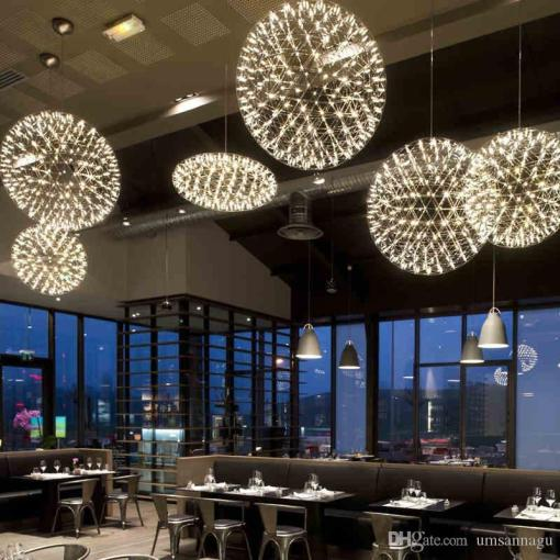 Led Modern Pendant Lamps Fireworks Lamp Ball Stars Hanging Pendant     Led Modern Pendant Lamps Fireworks Lamp Ball Stars Hanging Pendant Lights  Fixture Hotel Shopping Mall Cafes Pub Bar Home Indoor Lighting Hanging  Pendant