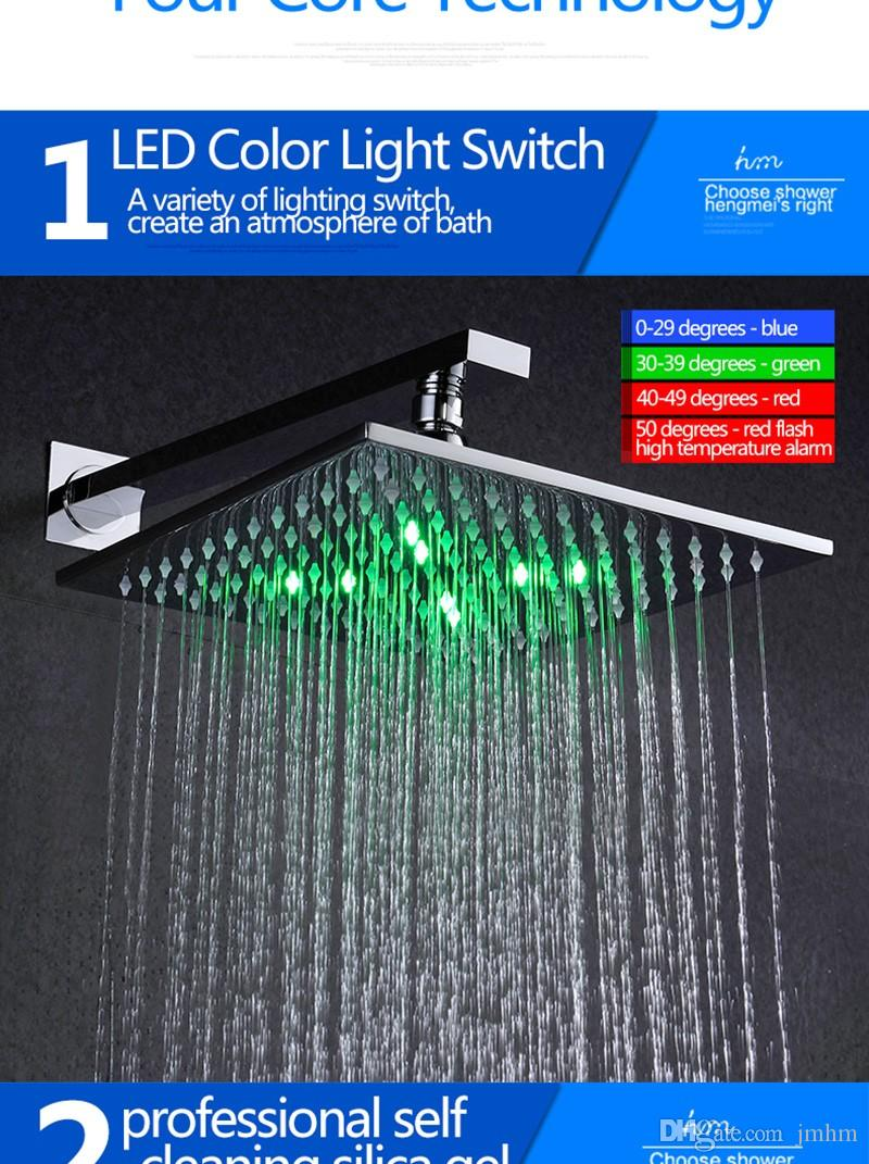 2019 10 Rainfall Shower Head Top Big Rain Shower Head Concealed Wall Mounted Shower Head With Concontroller From Jmhm 364 38 Dhgate Com