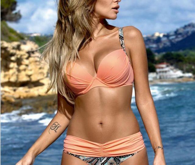 2019 Hot Latest Sexy Bikini Women Fashion Swimming Suit Beach Bikini With Bracket Gather Nor Two Sets From Heyan Dhgate Com