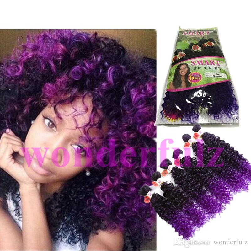 Kinky Curlydeep Wave Peruvian Hair Curly 6 Bundles Ombre