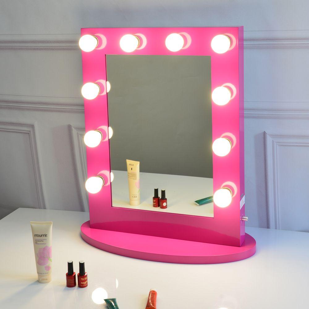 acheter miroir de vanite rouge rose avec miroir de scene de maquillage hollywoodien de 227 13 du wintochic dhgate com