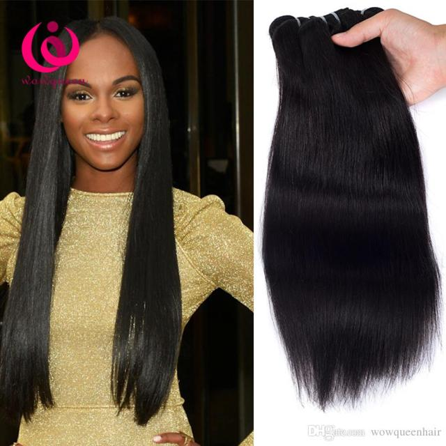 cheap price cambodian human weave hair straight 4bundles wow queen products 8-26inch 100% unprocessed cambodian virgin hair extensions