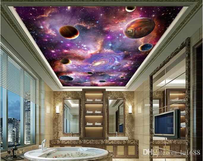 space galaxy 3d ceiling ceiling mural large mural wallpaper living