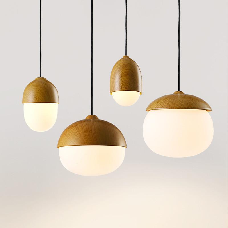 Nordic Nuts Pendant Lights Round Glass Ball Lampshade