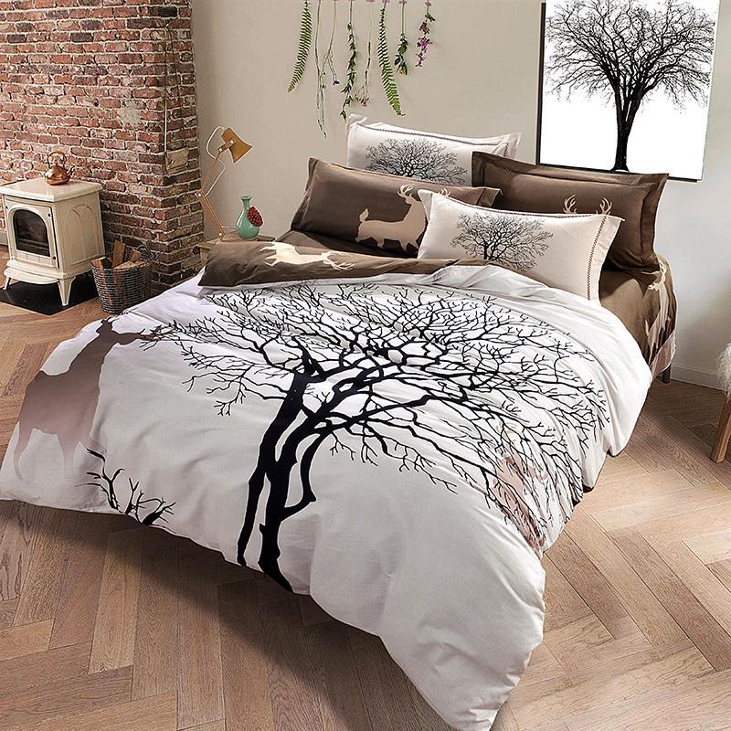 Wholesale Designer Deer And Tree Bedding Set Queen King