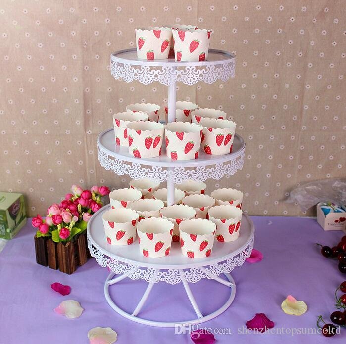 White Color Wedding Cake Stands Cupcake Plates for Home Party Baking     White Color Wedding Cake Stands Cupcake Plates for Home Party Baking Cake  Coffee Shop Display Tools Dessert Tray Cake Stand Set Cake Holder Cake  Display