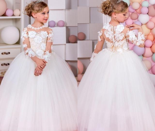 Top Quality Pageant Dresses For Little Girls Long Sleeve Ball Gown Flower Girl Dresses Kids Prom Dresses Dress Flower Girl Dresses For Flower Girl From