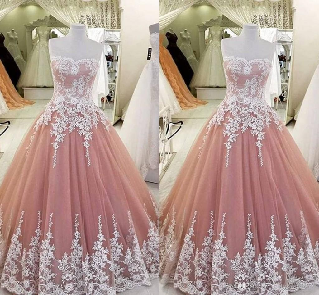 Blush Pink Ball Gown Quinceanera Dresses Sweetheart