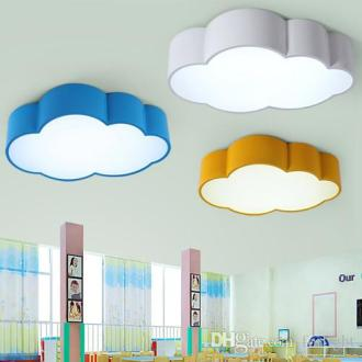 LED Cloud Kids Room Lighting Children Ceiling Lamp Baby Ceiling     LED Cloud Kids Room Lighting Children Ceiling Lamp Baby Ceiling Light with  Yellow Blue Red White Color for Boys Girls Bedroom Fixtures SMD Modern Led