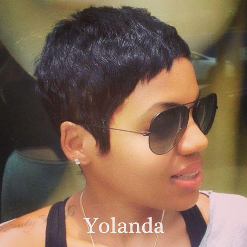 100 Brazilian Hair Human Wigs Short Pixie Cut Glueless