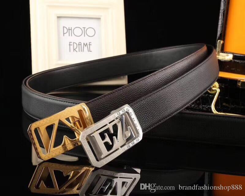 Mens Designer Luxury Brand Belts With Trendy Metal Buckle Genuine Leather Original Quality Waist Strap Ceintures Waistband Gift Box